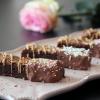 Barres de brownies décorés