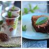 Mousse chocolat menthe basilic & Fondant chocolat menthe