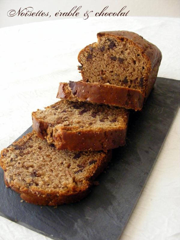R ve de gourmandises cake noisettes rable et chocolat for Beurre en special cette semaine